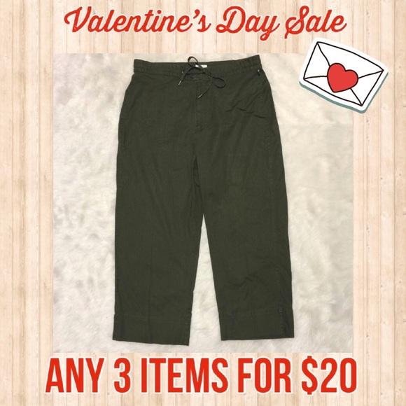 1826497c019 Tabitha Cropped Olive Pants